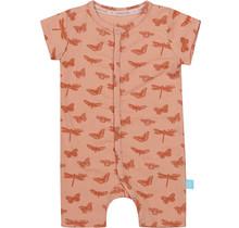 Charlie Choe meisjes pyjama boxpakje old pink melange + aop shiny copper