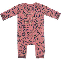 meisjes pyjama boxpakje aop dusty rose + navy