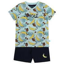 jongens pyjama aop aqua blue + navy