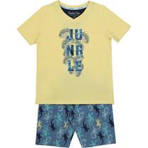 jongens pyjama aop raf blue + yellow