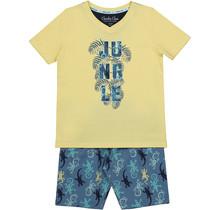 Charlie Choe jongens pyjama aop raf blue + yellow