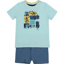 jongens pyjama raf blue + aqua blue