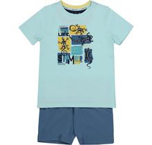 Charlie Choe jongens pyjama raf blue + aqua blue