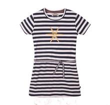 DJ Dutchjeans jurk navy stripe