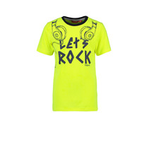 T-shirt let's rock safety yellow