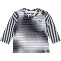 jongens longsleeve navy+off white