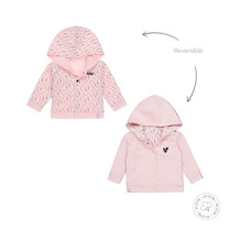 meisjes vest reversibel light pink