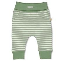 Feetje jongens broek streep groen - dinomite