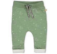 Feetje jongens broek aop groen - dinomite