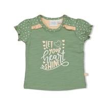 meisjes T-shirt shine groen - hearts