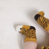Feetje jongens sokjes okergeel melange - go wild