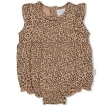 Feetje meisjes romper zand - panther cutie