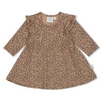 jurk aop zand - panther cutie
