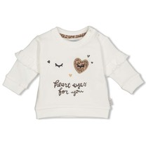 meisjes trui offwhite - panther cutie