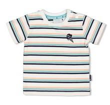 Feetje jongens T-shirt streep wit - team icecream