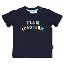 jongens T-shirt marine - team icecream