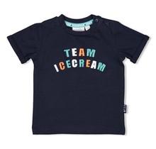 Feetje jongens T-shirt marine - team icecream