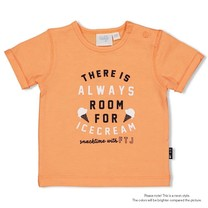 jongens T-shirt always neon oranje - team icecream