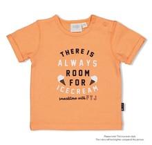 Feetje jongens T-shirt always neon oranje - team icecream