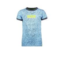 B.Nosy jongens T-shirt met allover melee print, ribboord aan hals en mouwuiteinde melee alaska blue
