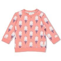 meisjes trui aop koraal - sweet gelato