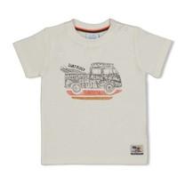 jongens T-shirt offwhite - happy camper
