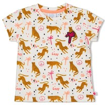 meisjes T-shirt aop offwhite - whoopsie daisy