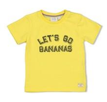 Feetje jongens T-shirt let's go geel - playground