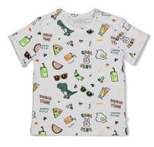 Feetje jongens T-shirt aop wit - snacktime