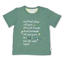 Feetje jongens T-shirt weekend plans groen - snacktime