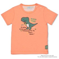 jongens T-shirt neon orange - snacktime