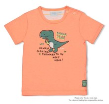 Feetje jongens T-shirt neon orange - snacktime