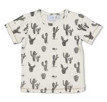 Feetje jongens T-shirt aop offwhite - looking sharp