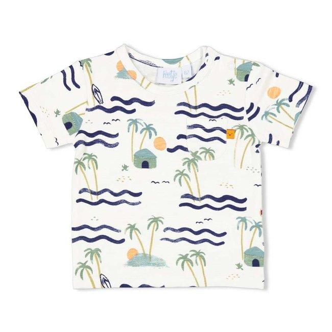 Feetje jongens T-shirt aop wit - here comes the fun