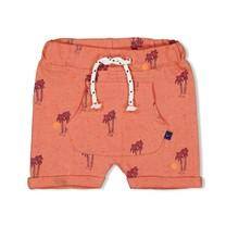 jongens short aop koraal - here comes the fun