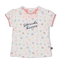 meisjes T-shirt aop wit - seaside kisses
