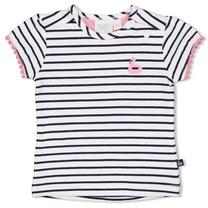 meisjes T-shirt streep wit - seaside kisses