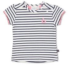 Feetje meisjes T-shirt streep wit - seaside kisses