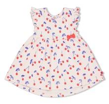 Feetje jurk aop roze - cherry sweetness