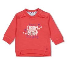 Feetje meisjes trui rood - cherry sweetness