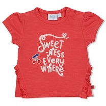 meisjes T-shirt everywhere rood - cherry sweetness
