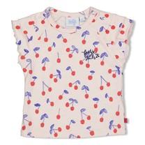 meisjes T-shirt aop roze - cherry sweetness