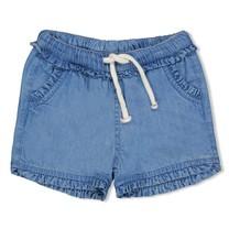 meisjes short blue denim - summer denim