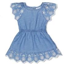 jurk+slip blue denim - summer denim