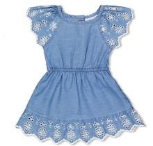 Feetje jurk+slip blue denim - summer denim