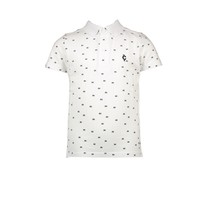 polo all-over print white