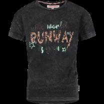 meisjes T-shirt Helieze deep black