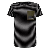 jongens T-shirt stripe pocket black