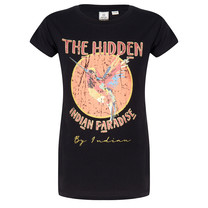 meisjes T-shirt paradise black