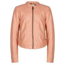 meisjes jasje fake leather blush pink